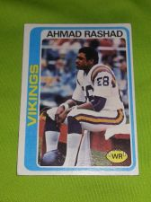 Buy VINTAGE AHMAD RASHAD VIKINGS HOF SUPERSTAR 1976 TOPPS #125 FR-GD