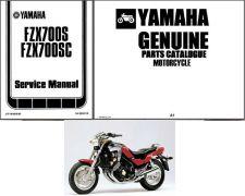 Buy 86-87 Yamaha FZX700 Fazer Service Repair & Parts Manual CD .. FZX 700