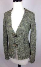 Buy BCBG Sweater S Womens Green Nylon Long Sleeve