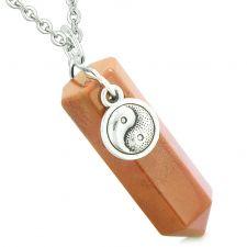Buy Yin Yang Balance Powers Magic Amulet Crystal Point Pendant Red Jasper 18 Inch Necklac