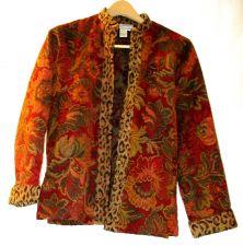 Buy EUC women's, sz.M, Coldwater Creek, multi-color floral/animal print, jacket