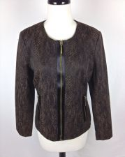 Buy Dana Buchman Jacket 8 Womens Brown Long Sleeve Blazer