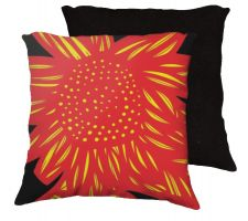 Buy Lesmeister 18x18 Yellow Red Black Pillow Flowers Floral Botanical Cover Cushion Case