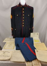 Buy World War 2 Marine Sergeant Uniform, Dischage Papers, Picture,Much More !! WWII
