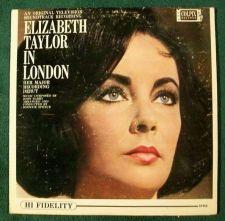 Buy ELIZABETH TAYLOR IN LONDON ~ 1963 Original Television Soundtrack LP