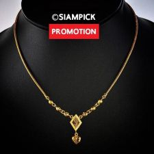 "Buy 18"" Thai Baht Yellow Gold GP Dubai Pendant Necklace 22k 24k Chain Jewelry N071"