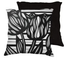 Buy Shetter 18x18 Black White Pillow Flowers Floral Botanical Cover Cushion Case Throw Pi