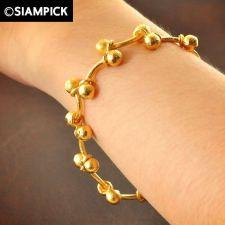Buy Beads Chain 22k 24k Thai Baht Yellow Gold GP Bangle Bracelet Real Jewelry B141
