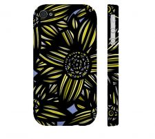 Buy Abatti Yellow Blue Black Iphone 4/4S Apple Phone Case Flowers Botanical