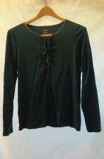 Buy EUC women's sz. M LANDS' END teal green long sleeve, scoop neck, pullover top