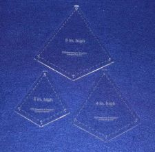 """Buy Quilting Template -3 Piece """"Kite"""" Shape Set - 1/8"""" Clear Acrylic"""