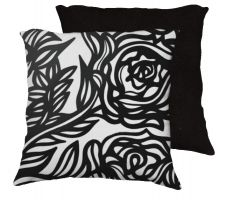 Buy Longin 18x18 Black White Pillow Flowers Floral Botanical Cover Cushion Case Throw Pil