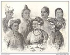 Buy CHINA - MAN-TSE & MIN-KIA PEOPLE TYPES - 2 engravings from 1873