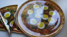 Buy Large pizza plate + 4 small pizza plates No micro-wave safe Multi-Color. NEW