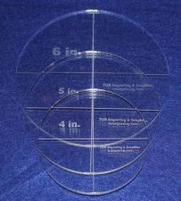 "Buy 3 Piece Circle Set - NO seam 4"", 5"", 6"" ~ 1/4"" Thick - Long Arm"