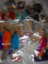 Buy Feather earring lot 35 pairs 4 crafts resale party favors beauty supply