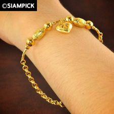Buy Thai 22k 24k Baht Yellow Gold Plated GP Bracelet Rolo Chain Bangle Jewelry B019