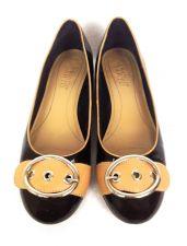 Buy Franco Sarto Shoes 9.5 Womens Black Leather Ballet Flats