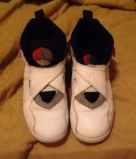 Buy AIR JORDAN RETRO VIII 8 2013 WHITE-BLACK-RED 305369-193 Bugs Bunny EUC Sz1