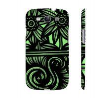 Buy Carcia Green Black Flowers Samsung Galaxy S3 Phone Case