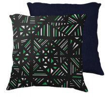 Buy Turrietta 18x18 Green White Blue Back Cushion Case Throw Pillow Cover 631 Art