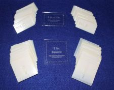 """Buy Mylar 2"""" x 1"""" Rectangle- 2"""" Square 102 Piece Set-Quilting/Sewing Templates"""