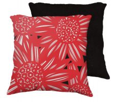 Buy 22x22 Peggs Red White Black Pillow Flowers Floral Botanical Cover Cushion Case Throw