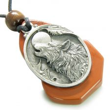 Buy Amulet Howling Wolf Black Agate Unique Simulated Black Agate Cabochon Spiritual Penda
