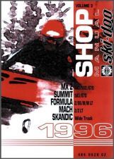 Buy 1996 Ski-Doo MX Z Summit Formula Scandic Mach Service Repair Manual CD