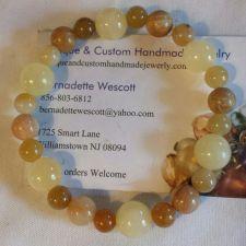 """Buy gemstone italian """"onyx"""" and calcite handmade bracelet sizing available"""