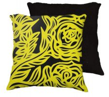 Buy 22x22 Ghent Yellow Black Pillow Flowers Floral Botanical Cover Cushion Case Throw Pil