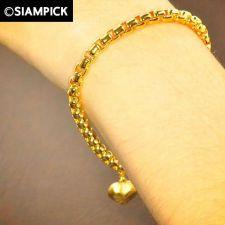 Buy Thai 22k 24k Baht Yellow Gold Plated GP Bracelet Box Chain Bangle Jewelry B007