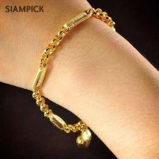 Buy Thai 22k 24k Baht Yellow Gold Plated GP Bracelet Rolo Chain Bangle Jewelry B016