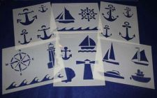 Buy 6 Piece Set -Mylar 14 Mil Nautical Stencils Painting/Crafts/Stencil/Template