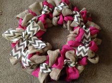 Buy Burlap Summer Door Wreath 18inch! Custom Orders Welcome! Pink