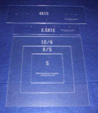 """Buy Common Size Pillow/Fabric Acrylic Templates -5 Piece Square Set -Sew/Quilt 1/8"""""""