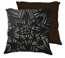 Buy Plese 18x18 Green White Brown Back Cushion Case Throw Pillow Cover 631 Art