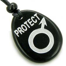 Buy Kanji Symbol Wealth Agate Magic Amulet Word Stone Pendant Necklace