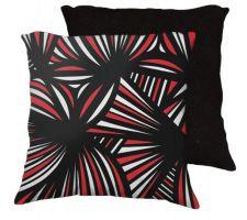 Buy Gederman 18x18 Red White Black Black Back Cushion Case Throw Pillow Cover 631 Art