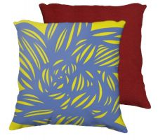 Buy Moskwa 18X18 Yellow Blue Flowers Floral Botanical Red Back Cushion Case Throw Pillow