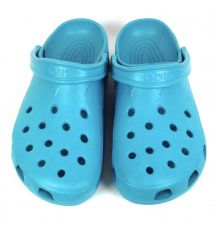 Buy Crocs Shoes 12 Womens Blue Rubber Loafers