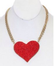 Buy Heart Crystal Bead Necklace