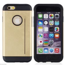 Buy Iphone 6 Tempered Glass Protector and Free Slim Legend Hybrid Case Gold Or Blac