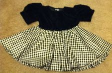 Buy Shanil Formal Swing Baby Girl Dress Gold Black Cream With Hat Size 12m