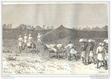 Buy KENYA (AFRICA) - WALLS AND GATE OF MASSALA VILLAGE - engraving from 1885