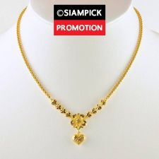 "Buy 18"" Thai Baht 22k 24k Yellow Gold Plated Box Chain Pendant Necklace Jewelry N007"