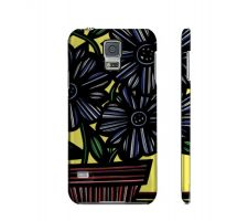 Buy Pottenger Yellow Blue Flowers Samsung Galaxy S5 Phone Case