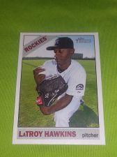 Buy MLB LaTROY HAWKINS ROCKIES SUPERSTAR 2015 TOPPS HERITAGE #239 GEM MNT