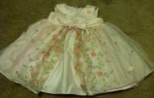 Buy Bonnie Baby Pink Dress Lace Ruffles With Romper Baby Girl Size 6-9m