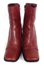 Buy Clarks Shoes 7.5 Womens Red Leather Boots